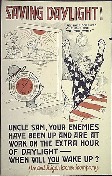 Daylight Savings Poster from World War I