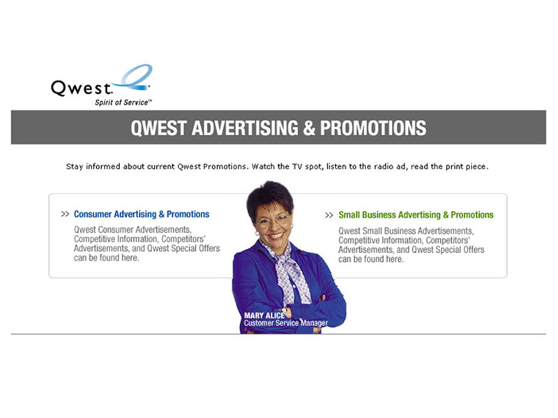 Qwest Advertising & Promotions